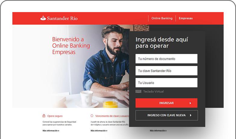 Home banking santander rio ingresar