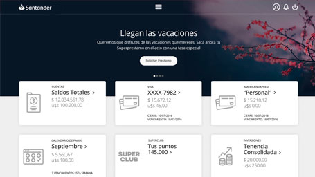 Online Banking - Pymes Advance | Banco Santander Río