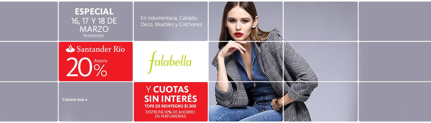 Especial Falabella con Tarjeta Santander Río