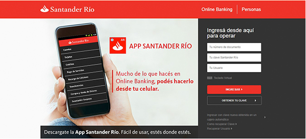 Online Banking Santander >> Santander Río   Canales de atención   Online Banking